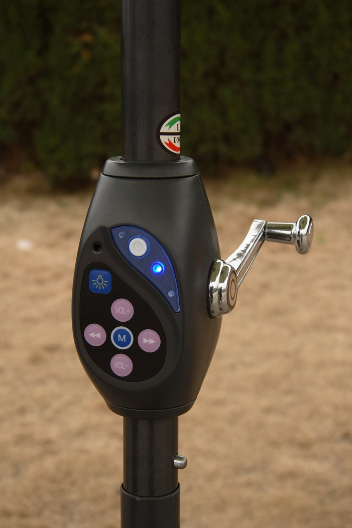 4 Foot Led Lights >> Solar Umbrella Solar parasol - Vernal Energy Group Ltd.